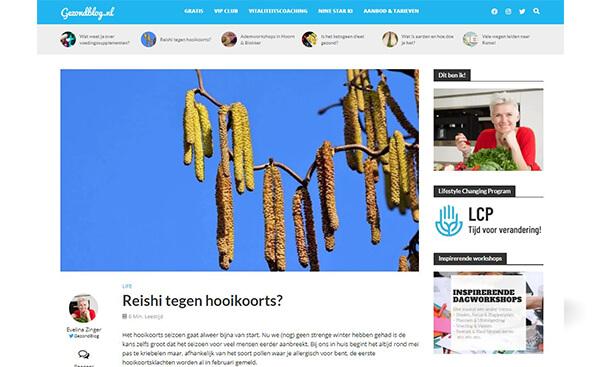 Evelina Gezondblog over Reishi Spore