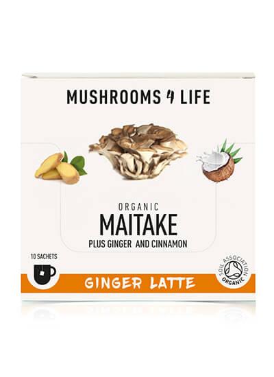 Maitake gember latte mushroomlatte