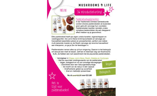 Puur Magazine Puur Mieke - Mushrooms4Life