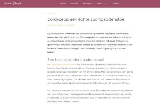 Esmee lifestyle blog over Cordyceps