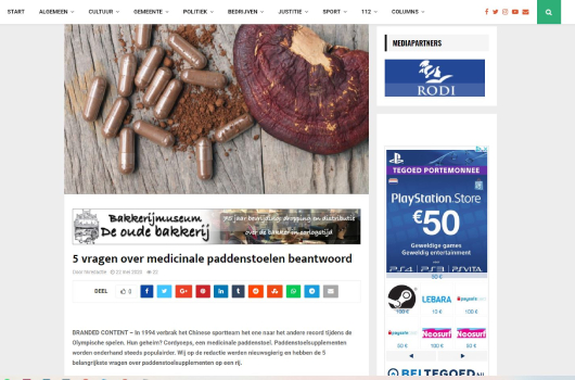 Hollands Kroon Actueel over Mushrooms4Life