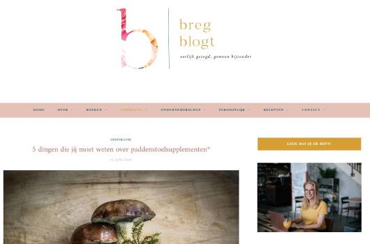 Breg Blogt over Medicinale paddenstoelen