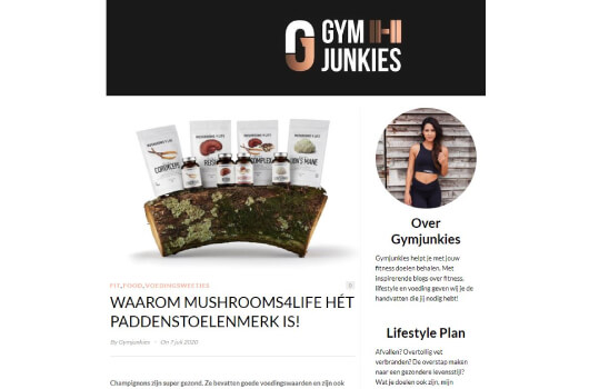 Gym Junkies over Mushrooms4Life