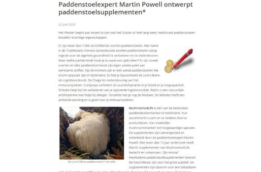 Oisterwijk Nieuws over Mushrooms4Life