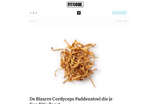 Fitcode over Cordyceps Mushrooms4Life
