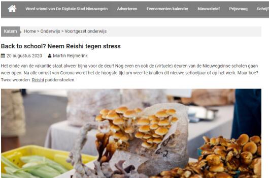 Pen over de Reishi tegen stress
