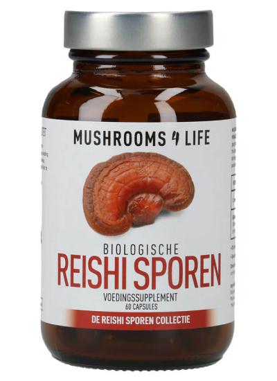 Reishi spore biologische paddenstoelen capsules mushrooms4life