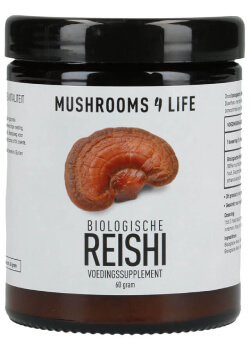 Reishi paddenstoelen poeder biologisch Mushrooms4life