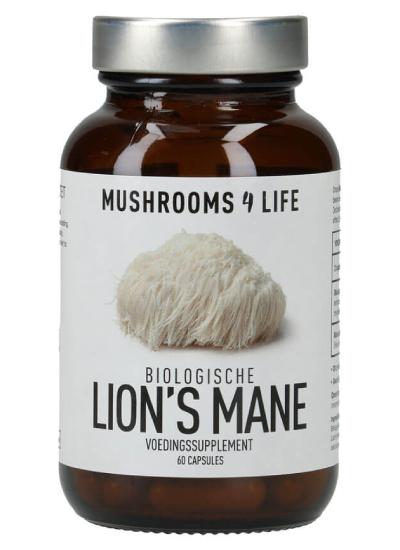 Lion's mane biologische paddenstoelen capsules Mushrooms4life