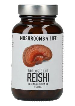 Reishi biologisch paddenstoelsupplement Mushrooms4life